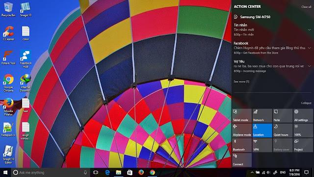 Gửi tin nhắn miễn phí từ máy tính chạy Windows 10 cho điện thoại Android