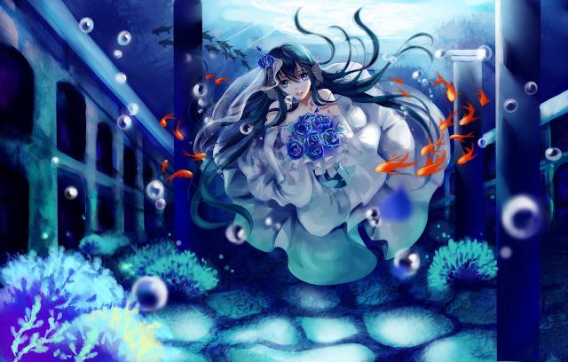 Falling Rose Petals Live Wallpaper Flower Under Water Wallpaper Wallpaper Wide Hd