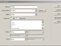 Menampilkan Isi Tabel Database MySQL Dengan Dreamweaver