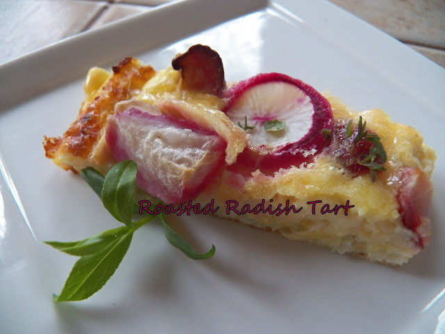 Roasted Radish Tart