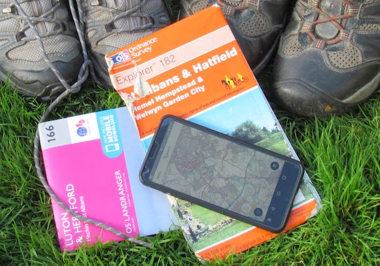 We recommend you take an OS map or OS app with you on the walks