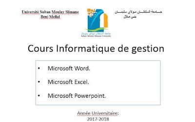 Cours Informatique de gestion s4
