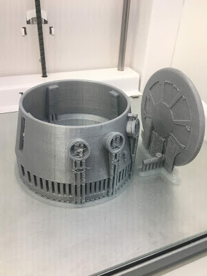 R5-D4 3D printing scaled dome