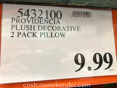 Deal for a 2 pack of Providencia Plush Decorative Pillow at Costco