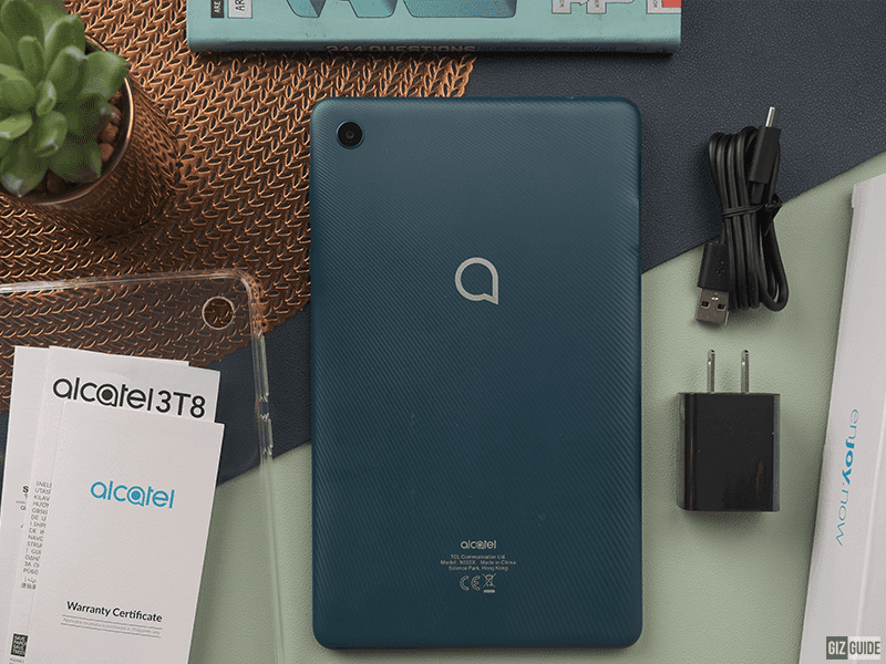 Back of the Alcatel 3T8 4G tablet