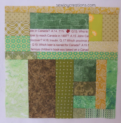 slab patchwork block modern scrap block