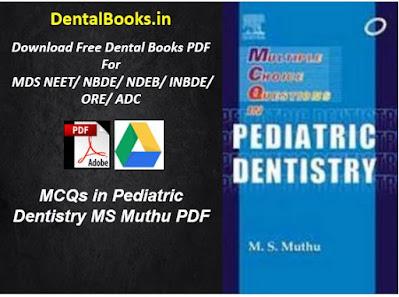MCQs in Pediatric Dentistry MS Muthu PDF DOWNLOAD