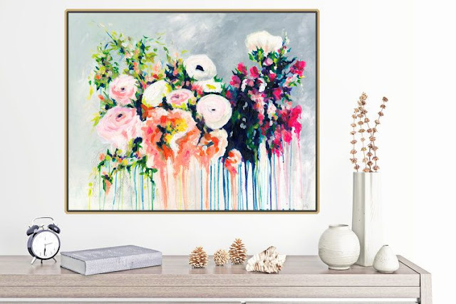 abstract floral paintings by Megan Carty