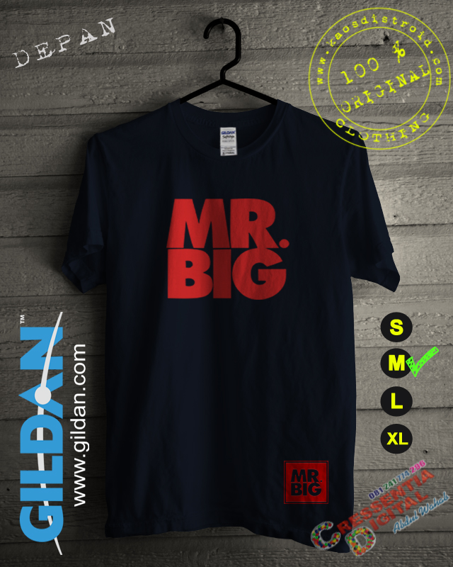 Kaos Mr Big Distro Id Warna Navy
