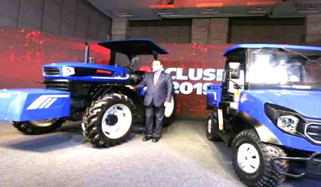 Escorts group showcased electric tractor and RTV.