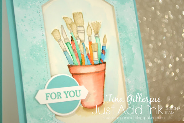 scissorspapercard, Stampin' Up!, Just Add Ink, Crafting Forever, A Good Man, Follow Your Art DSP, Stitched Nested Labels Dies, No Line Watercolouring