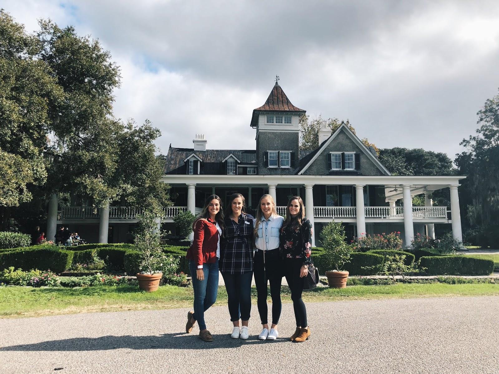 Friends at the Magnolia Plantation in Charleston, SC