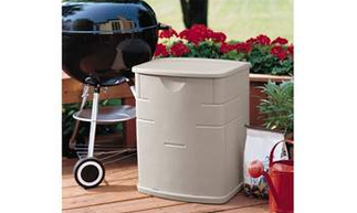 Rubbermaid 0812-5031 Weather Resistant Patio Chic 19.4 Resin Gallon Deck Box, Deck Boxes, Garden Boxes, Garden Storage Box, Garden Storage Boxes, Keter, Lifetime, Plastic Deck Boxes, Plastic Deck Storage Container Box, Plastic garden Storage Box, Rubbermaid, Rubbermaid Deck Boxes,