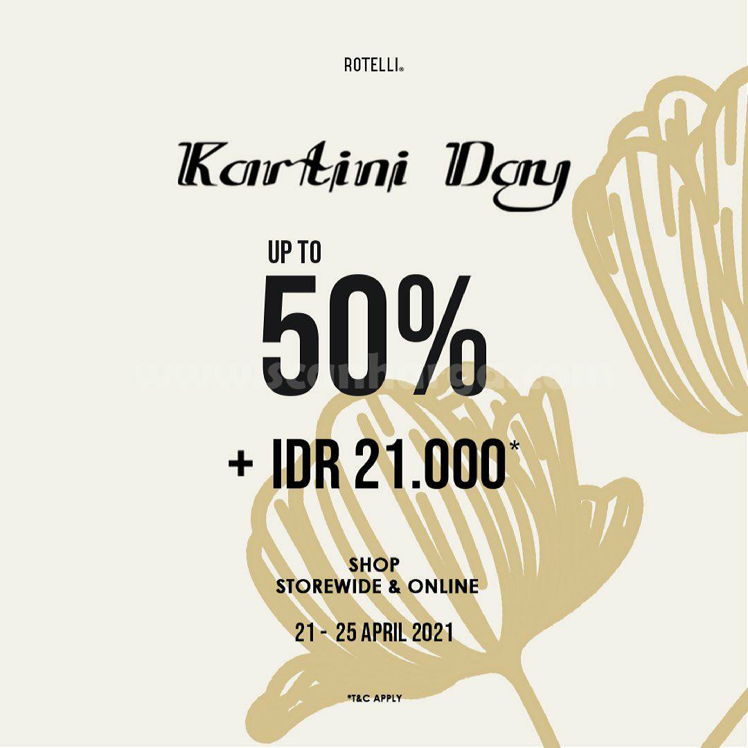 Promo Rotelli Kartini Day DIscount Up To 50% + Cashback Rp21.000