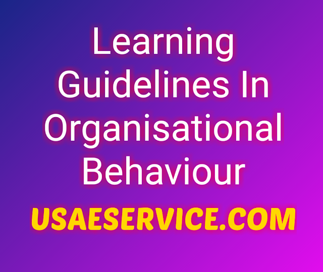 Learning Guidelines