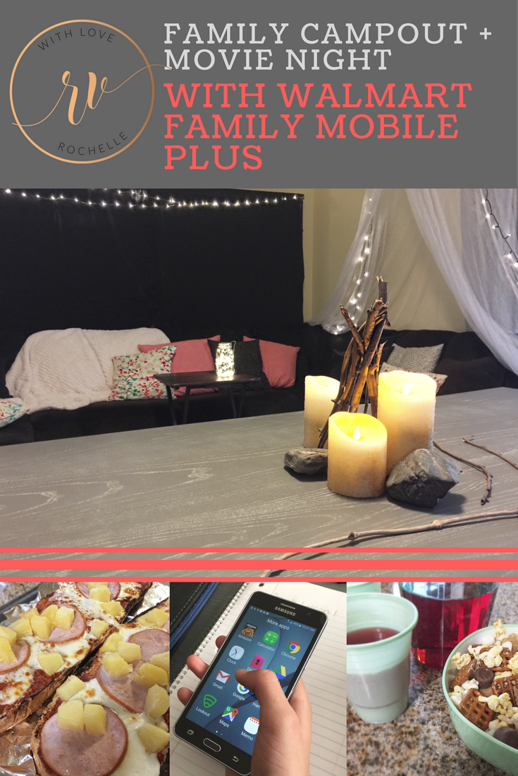 How to have a family campout indoors to watch movies on VUDU. Max Your Tax Cash with Walmart Family Mobile Plus. #YourTaxCash #ad