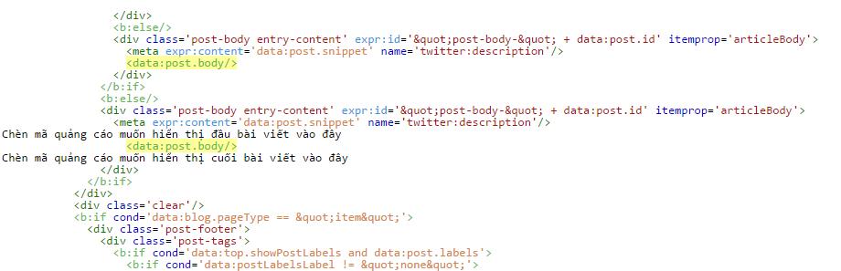 Hướng dẫn đặt quảng cáo google adsense cố định vào trong bài viết blogspot