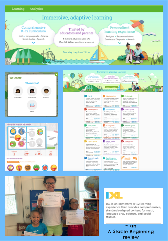 A Stable Beginning: Immersive, adaptive learning from IXL ~ a TOS review