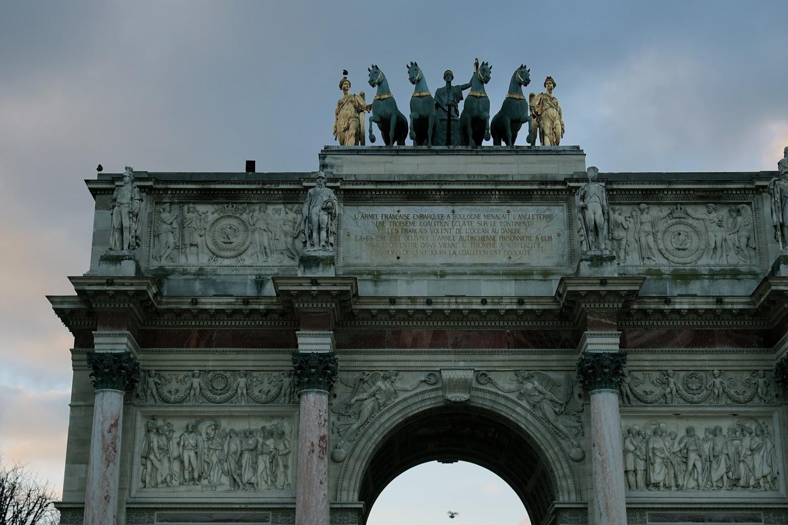 カルーゼル凱旋門(arc de triomphe du Carrousel)