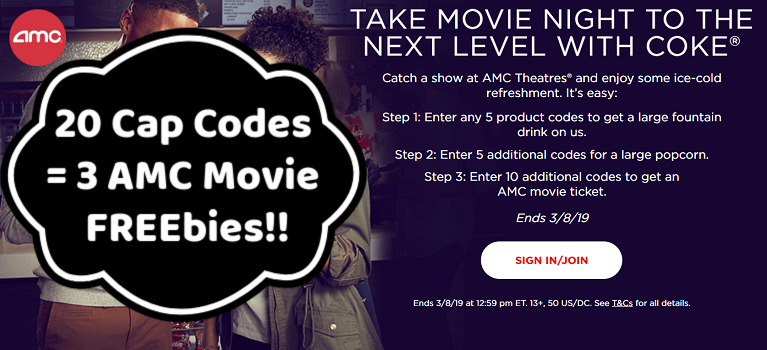 Coke Com Free Movie Ticket Free Large Popcorn And Free Large