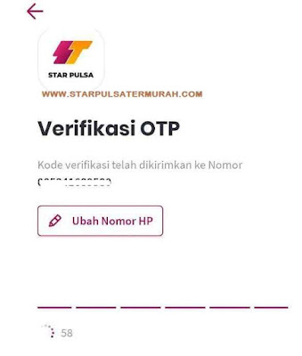 Verifikasi Kode OTP Aplikasi Android Star Pulsa
