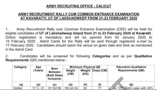 LAKSHADWEEP ARMY RALLY 2020