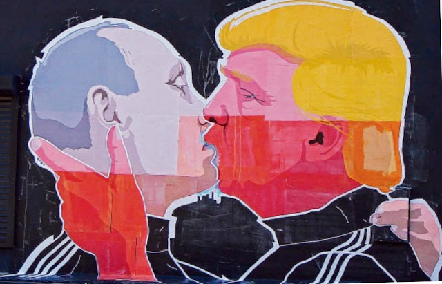Kissing Trump and Putin