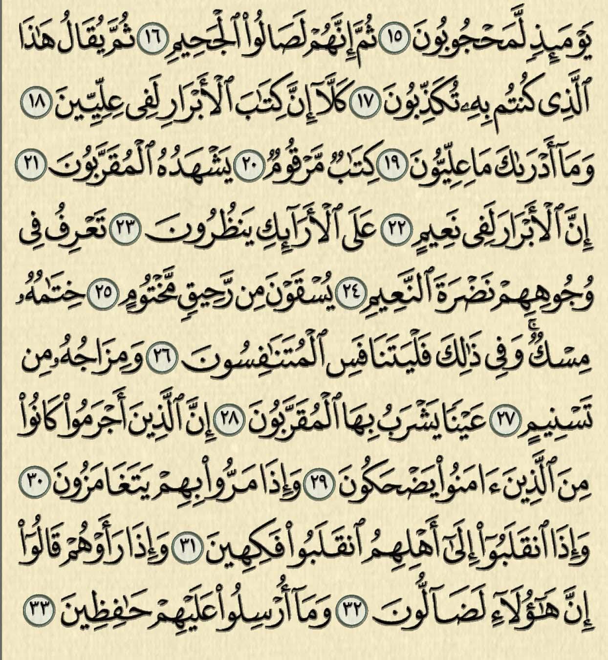 شرح وتفسير سورة المطففين, surah al mutaffifin