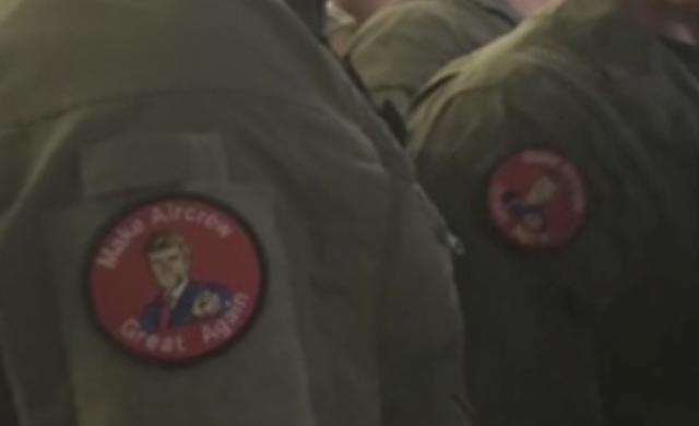 U.S. service members seen wearing MAGA-inspired patches at Trump speech may have violated DOD rules