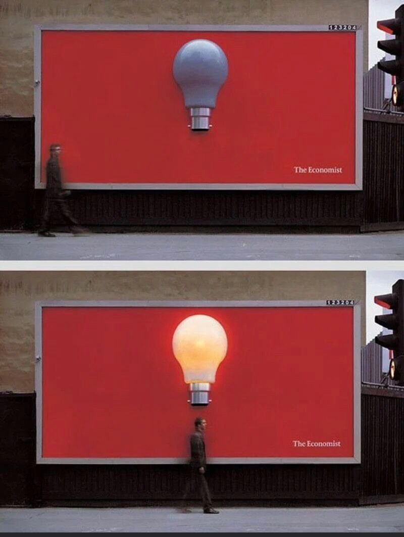 The Economist billboard