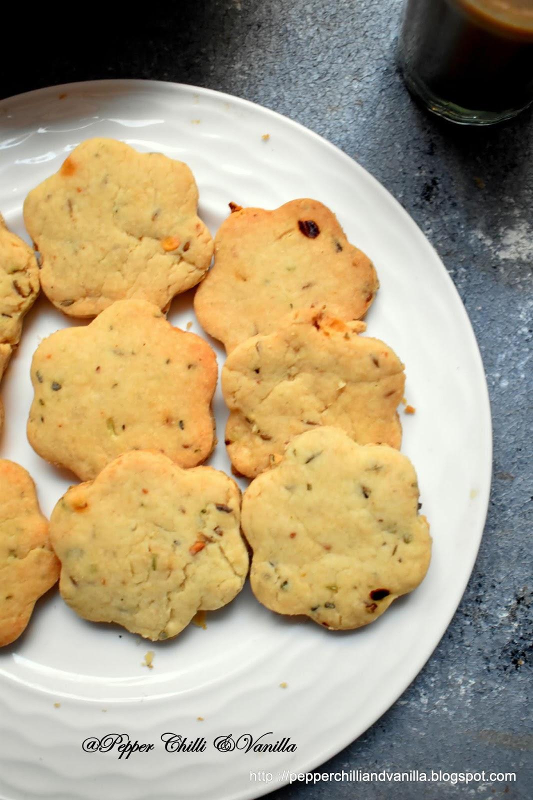 cumin masala cookies,khara biscuits,eggless cumin cookies,zeera biscuits,zeera masala biscuits