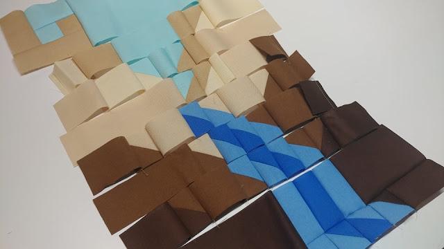 Canyon quilt block construction