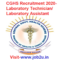CGHS Recruitment 2020, Laboratory Technician, Laboratory Assistant