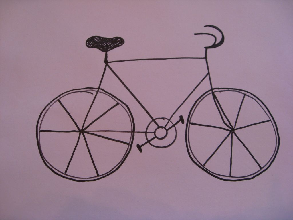 Drawing A Easy Bike Drawn Bike Sketch Pencil And In Color Drawn