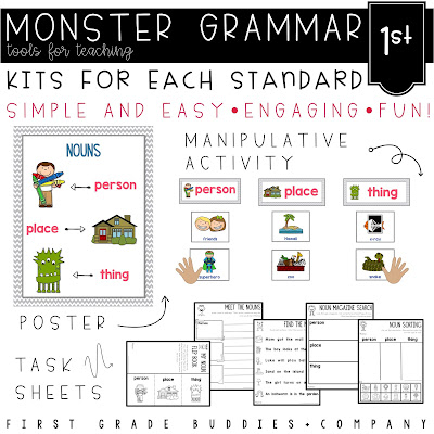 https://www.teacherspayteachers.com/Product/Monster-Grammar-First-Grade-CC-Aligned-Mini-Lessons-for-the-Whole-Year-616520