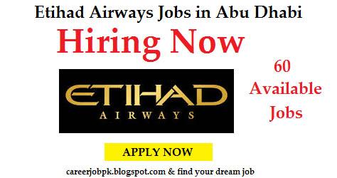 Etihad Airways job opening 2016 Abu Dhabi