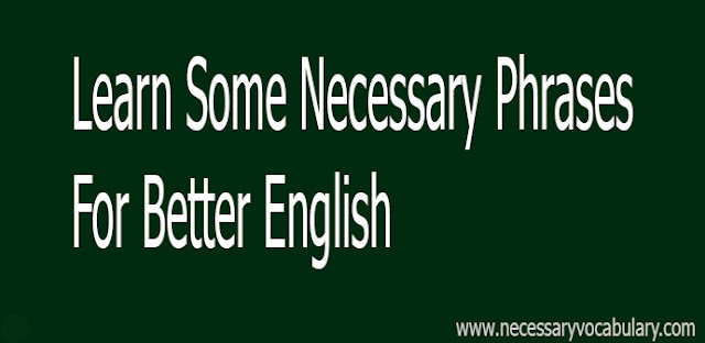 necessary phrases, english phrases
