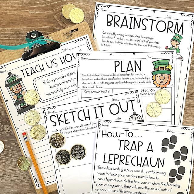 seasonal procedural writing activities: how to catch a leprechaun