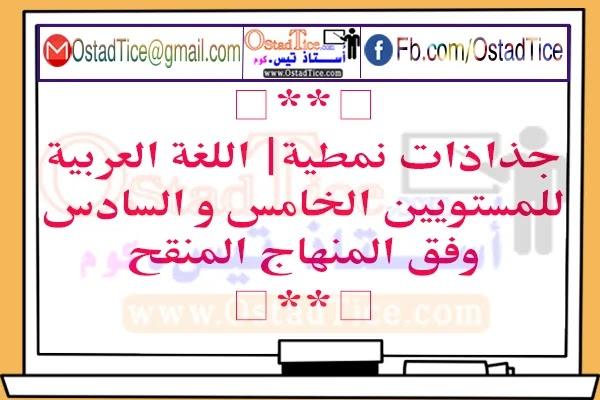 جذاذات اللغة العربية للمستوى الخامس و السادس 2020/2021
