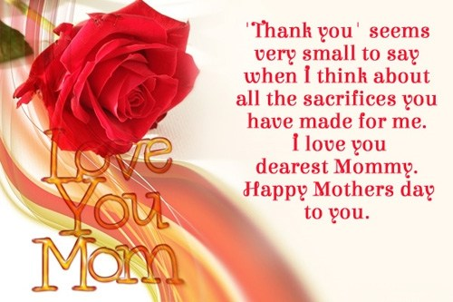Mother's Day SMS small quotes