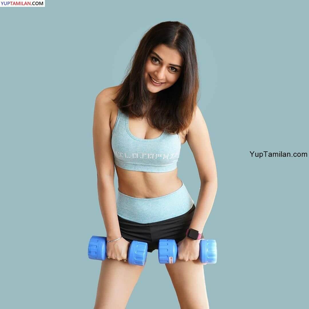 Payal Rajput Sexy workout Photos Navel show