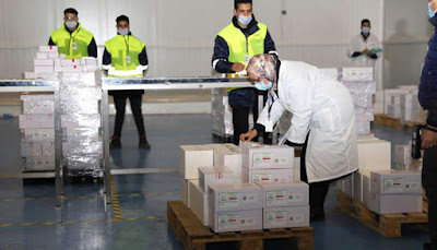 Distribution du vaccin anti-coronavirus sur les régions en vue du lancement de la campagne de vaccination cette semaine
