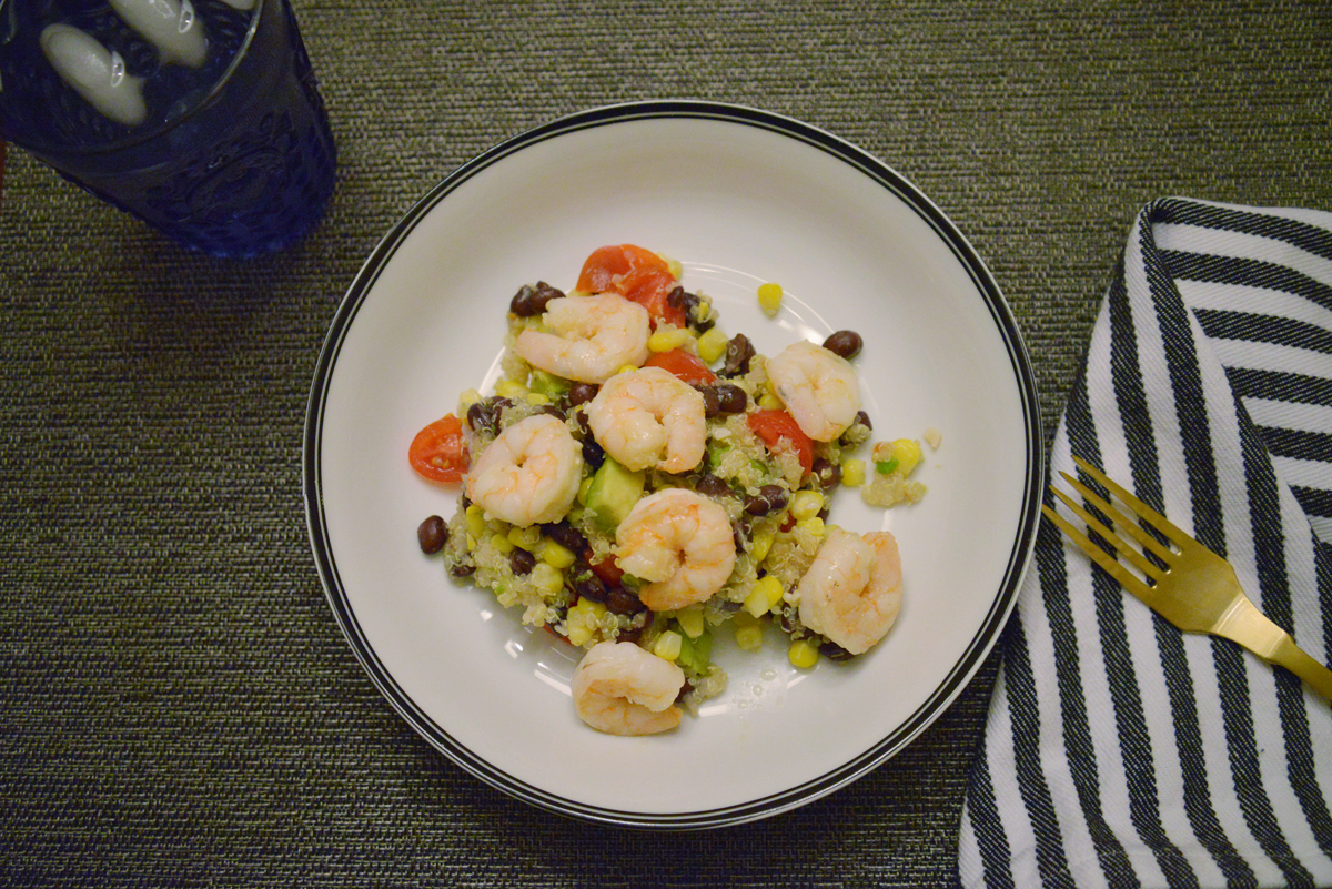 Lemon Garlic Shrimp and Quinoa Bean Salad | Ramblingrenovators.ca