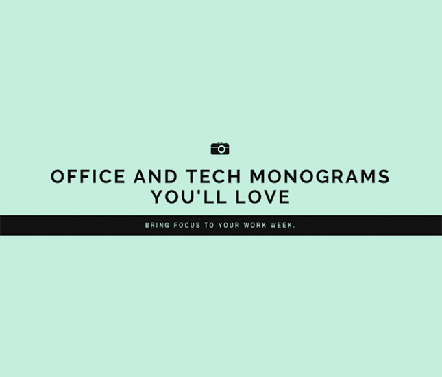 Office and tech monograms from marleylilly.com