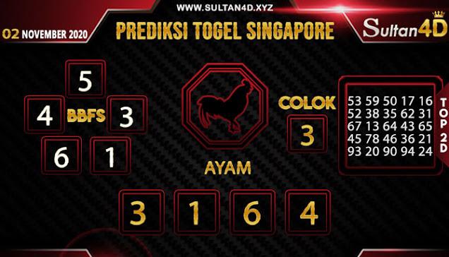 PREDIKSI TOGEL SINGAPORE SULTAN4D 02 NOVEMBER 2020