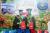 Wisudawan demianus Obaipa SH dan Stefanus nokuwo,SH. Melaksanakan ibadah syukuran di gedung gereja jemaat antiokhia sentani Jayapura