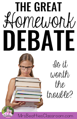 Do you assign homework in your classroom? The debate rages on - homework or no homework? I'm breaking down the advantages and disadvantages to assigning homework, and providing an easy low-prep solution!