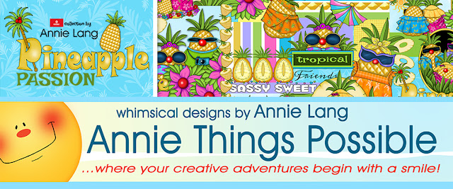Get tropical with Annie Lang's Tropical Pineapple to create your own Sunny Paradise!