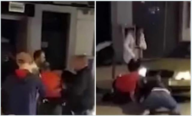 Βίντεο από την στιγμή που Αλβανός αρπάζει το όπλο αστυνομικού στην Κατερίνη κι αυτό εκπυροκροτεί