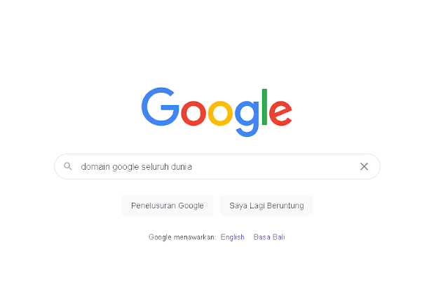 Domain Google Seluruh Dunia